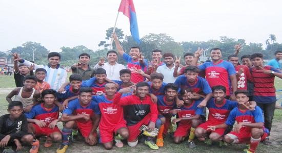 বঙ্গবন্ধু গোল্ডকাপ ফুটবল:আজকের খেলায় পৌরসভা ও ডৌহাখলা ইউনিয়ন বিজয়ী