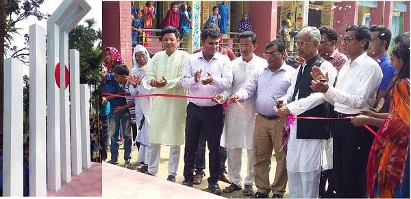 গৌরীপুরে প্রাইমারী স্কুলে শহীদ মিনার উদ্বোধন করলেন এমপি