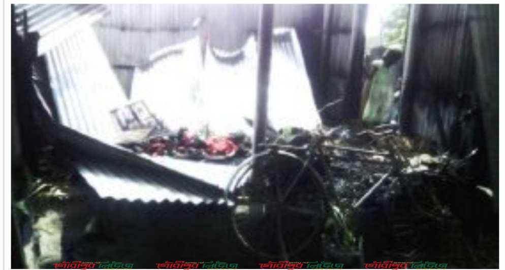 বৈদ্যুতিক মিটার বিস্ফোরণ, দুই ঘর পুড়ে ছাই