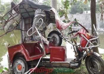 নান্দাইলে ট্রাকের ধাক্কায় অটোচালক নিহত