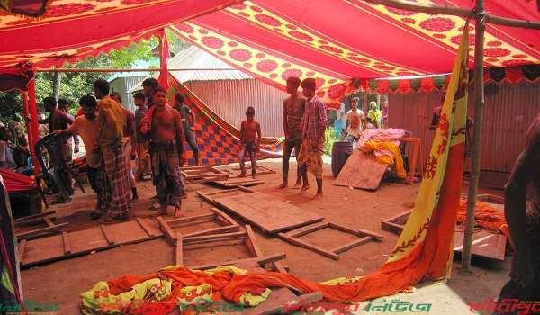 গৌরীপুরে বিয়ের দাওয়াত না পেয়ে ক্ষোভে বাড়ি-ঘরে হামলা-ভাংচুর