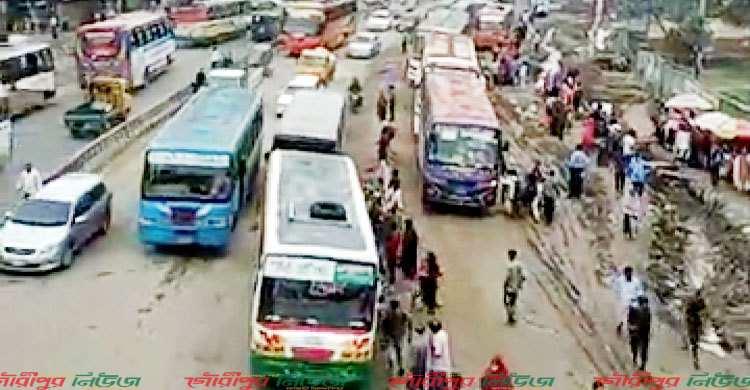ঢাকা-ময়মনসিংহ মহাসড়কে যানজট বাড়ছে
