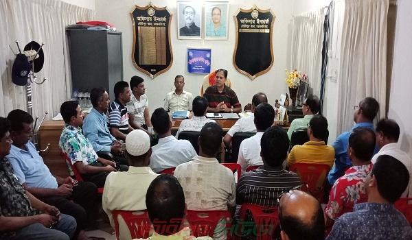 সাংবাদিকদের সাথে গৌরীপুর থানার নতুন ওসি'র মতবিনিময়