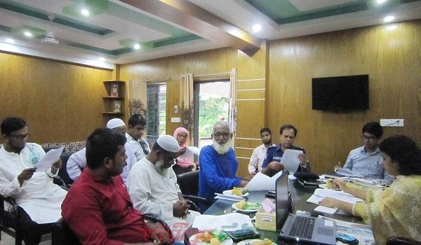 গৌরীপুরে আইন-শৃংখলা কমিটির মিটিং