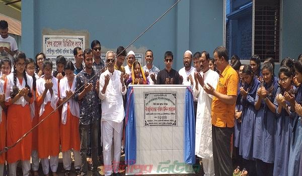 গৌরীপুরে দু'টি হাই স্কুলের নতুন ভবনের ভিত্তি প্রস্তর স্থাপন করলেন এমপি