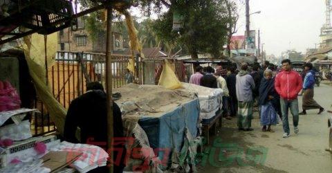 গৌরীপুরে শহীদ হারুন পার্কের অবৈধ স্থাপনা উচ্ছেদ