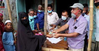 গৌরীপুরে সিধলা ইউনিয়নে প্রধানমন্ত্রীর উপহার ও ভিজিএফ'র টাকা বিতরন