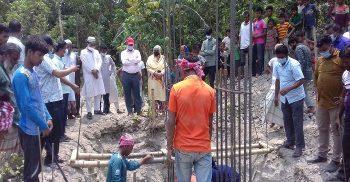 গৌরীপুরে স্কুলের ভবন নির্মাণ কাজে প্রথম ব্যবহার হচ্ছে রেডিমিক্স কংক্রিট