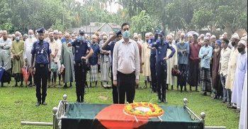 গৌরীপুরে রাষ্ট্রীয় মর্যাদায় বীর মুক্তিযোদ্ধা আব্দুর রশিদের দাফন সম্পন্ন